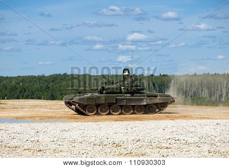 Tank T-72 at the proving ground