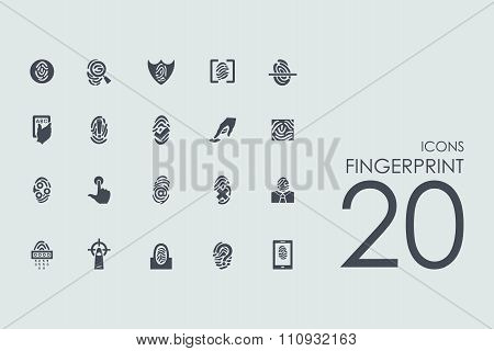 Set of fingerprint icons