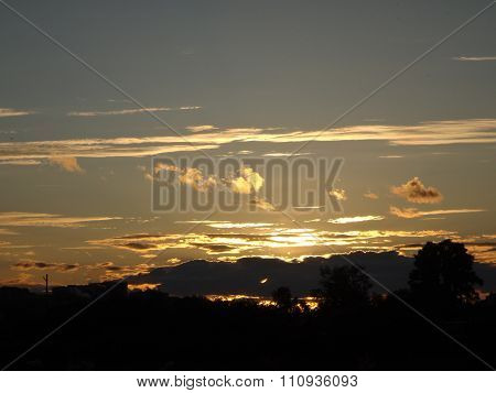 Beautful yellow sunset
