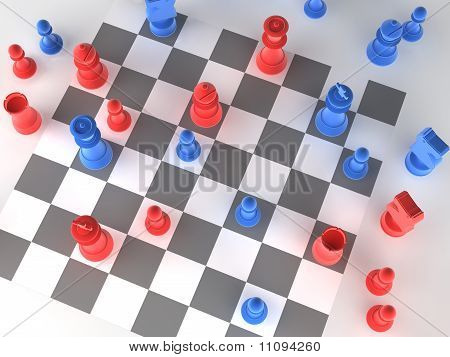 A Played Out Set Of Chess