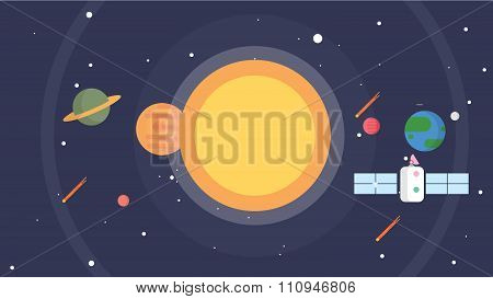 Space and Solar System Background