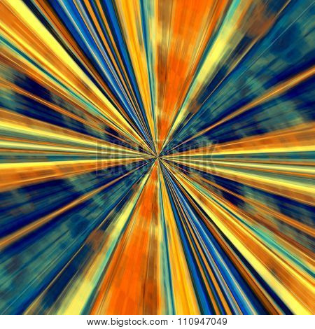 Abstract technology background. Odd visual arts. Hi-Tech line art. Energy ray or beam.