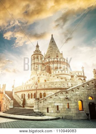 view on the old fishermen Bastion in Budapest