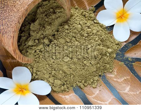 Tiare Flowers And Henna Powder