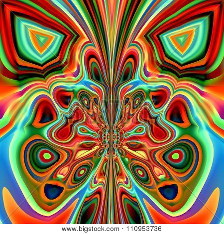 Abstract modern design. Ornate freak shape. Made in full frame. Curvy weird images.