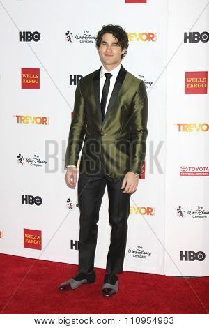 LOS ANGELES - DEC 6:  Darren Criss at the TrevorLIVE Gala at the Hollywood Palladium on December 6, 2015 in Los Angeles, CA