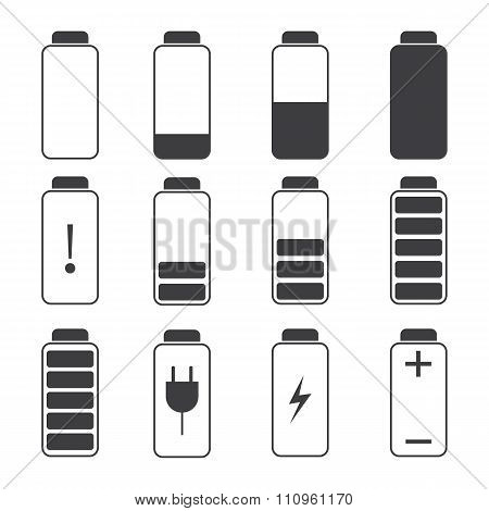 Modern 2d  Illustration of a battery charging