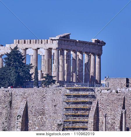 Athens Greece Parthenon temple on Acropolis