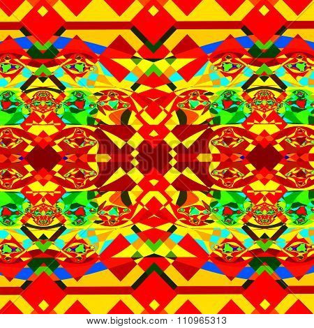 Colorful psychedelic background pattern. Modern digital art. Messy sharp clutter.