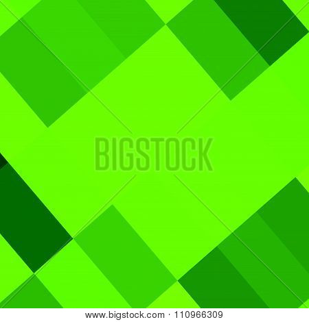 Abstract green picture frame. Pixel art and low polygon style. Image made in full frame.