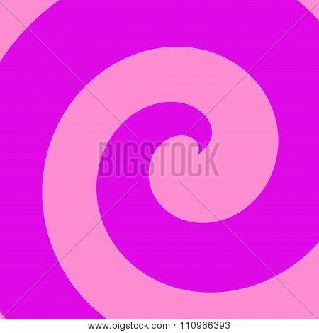 Illustration of abstract purple spiral. Cool colour tone. Funny retro poster idea.