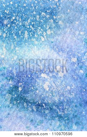 Snow Watercolor on Blue Background 9