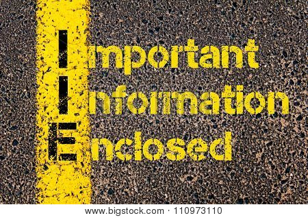 Advertising Business Acronym Iie Important Information Enclosed