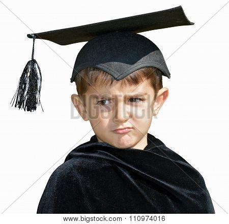 Kid Graduate With Graduation Cap