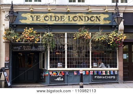 Ye Olde London Pub, London, UK