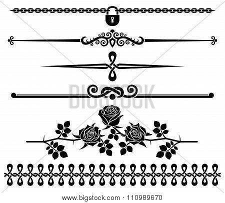 Decorative elements - roses.
