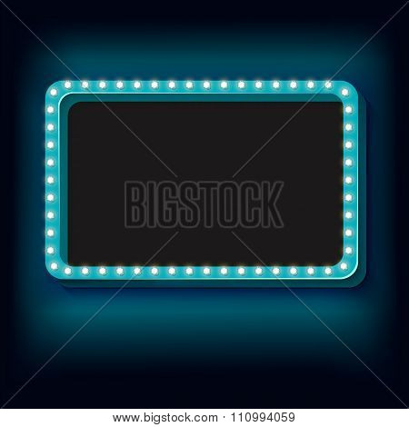 Night retro background with lights