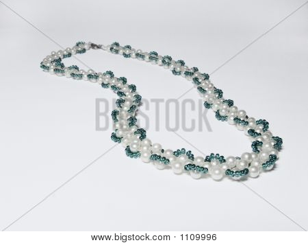 Necklace Over White