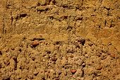 The way of saint James adobe mud walls at Palencia Spain poster