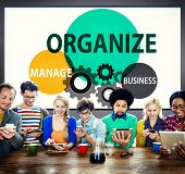 Organize Manage Business Collaboration Community Concept poster