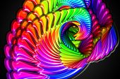 A very nice fractal background with abstract chaos piral shapes poster