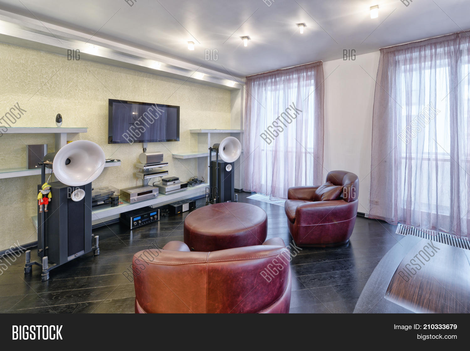 Interior Home Theater Image & Photo (Free Trial) | Bigstock