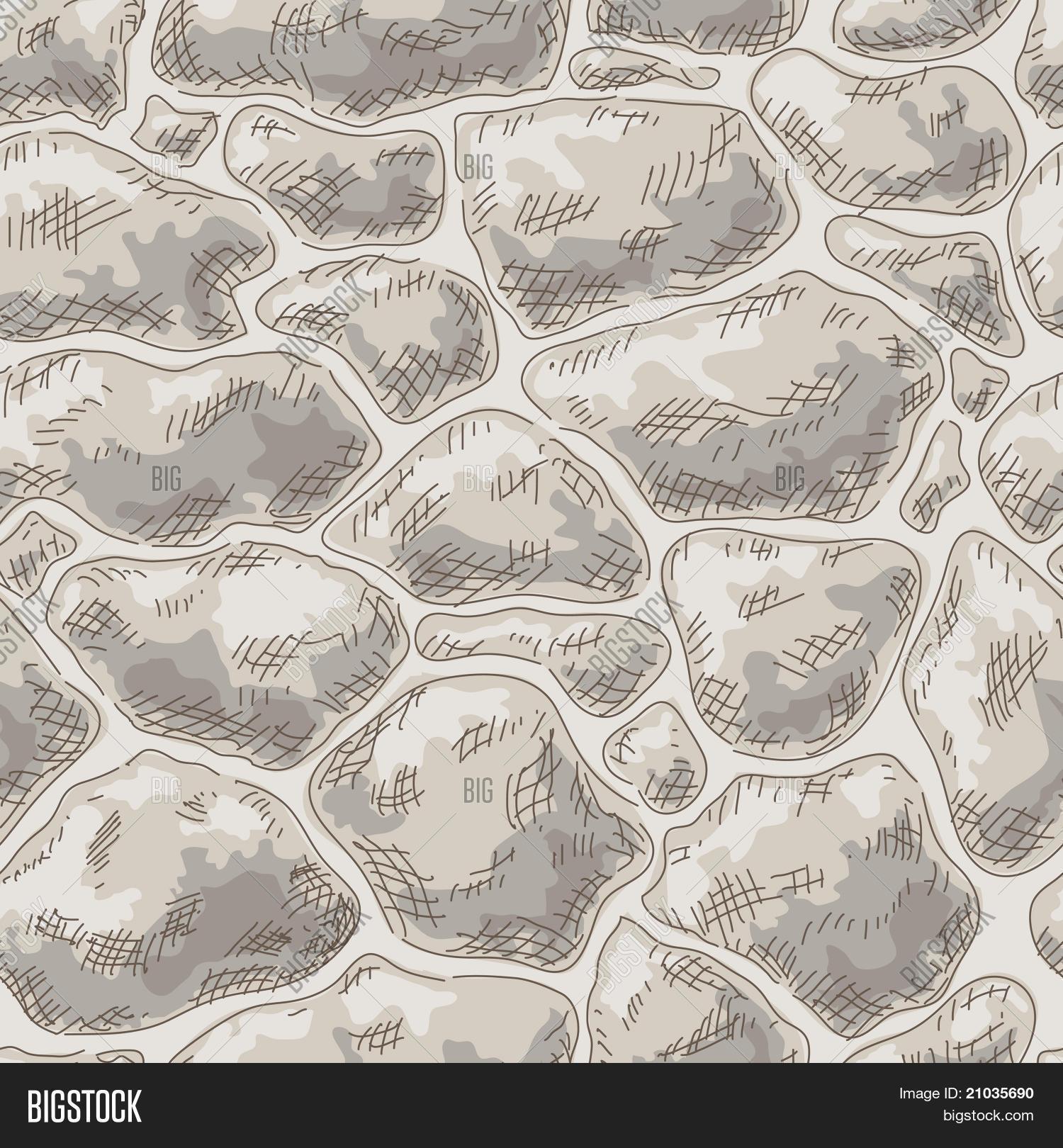 Vector y foto muro de piedra sin prueba gratis bigstock - Dibujos de piedras ...