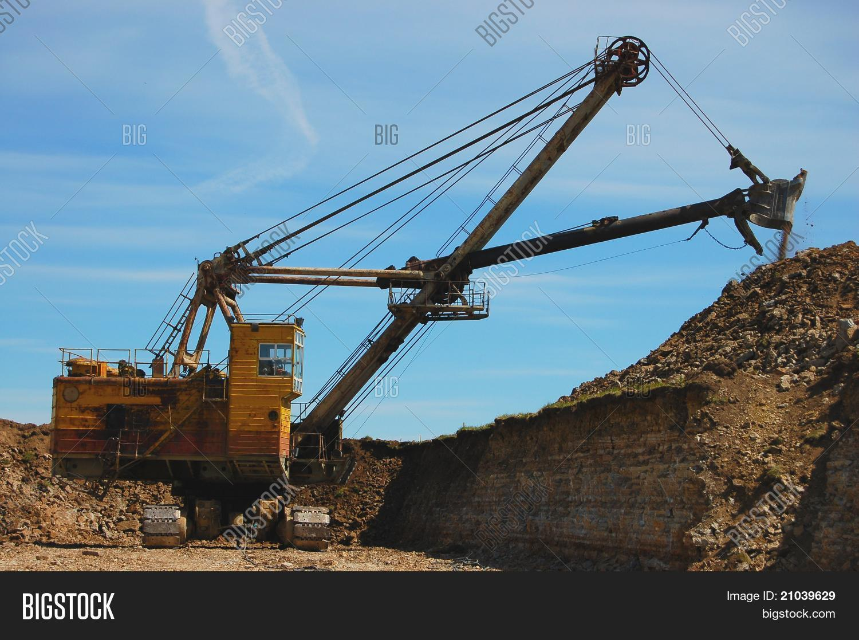Retro Excavator Open Image Photo Free Trial Bigstock