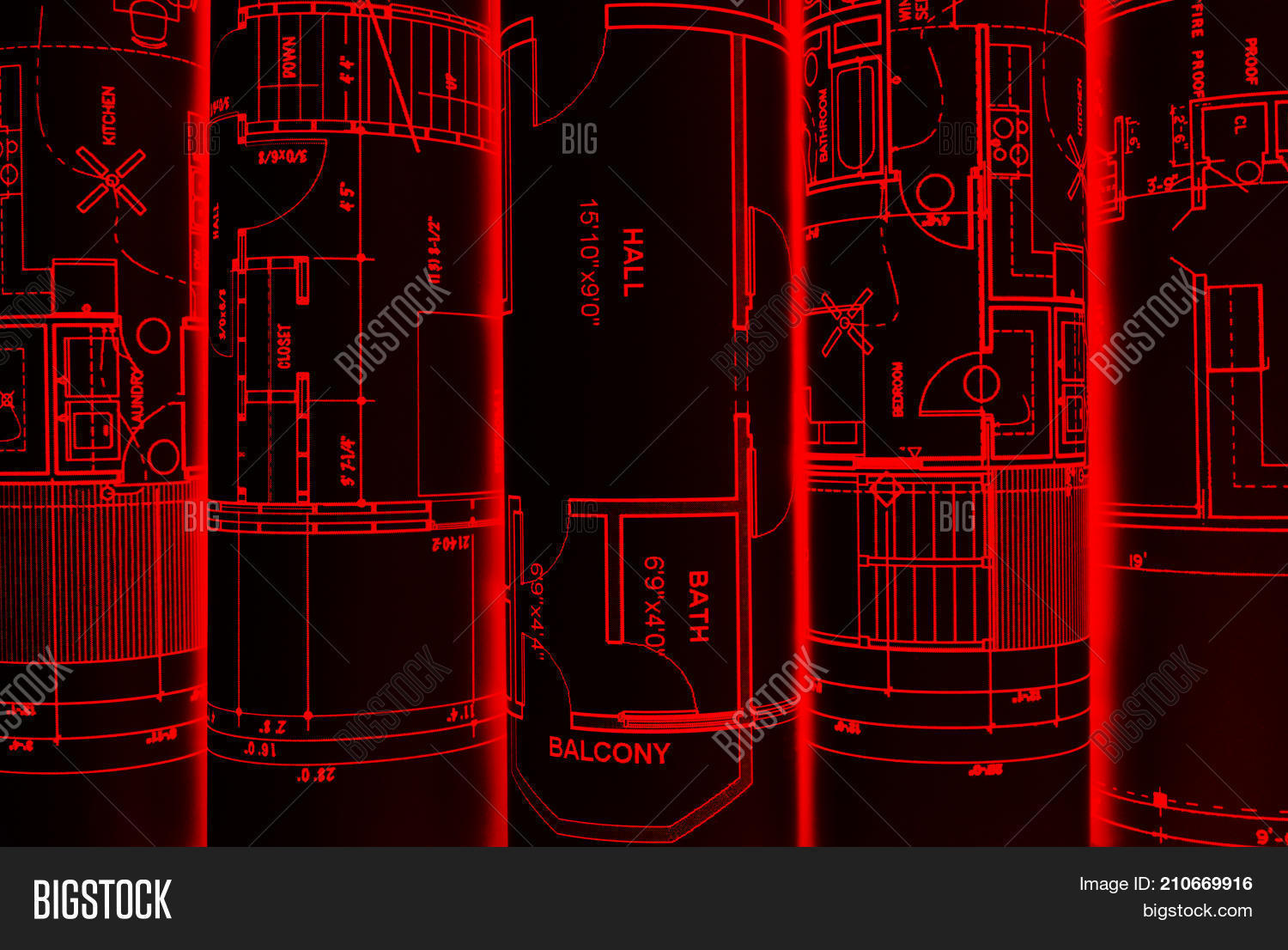 Architectural image photo free trial bigstock architectural blueprints and blueprint rolls and a drawing instruments on the worktable drawing compass plans malvernweather Gallery
