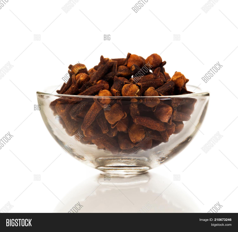 Cloves Spice On White Background Image Photo Bigstock