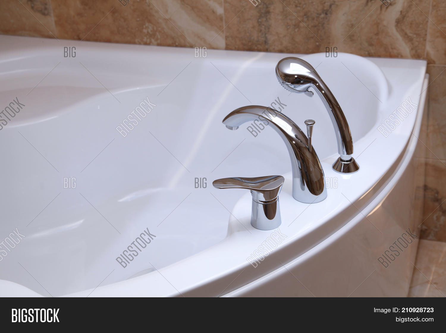 Bathtub Faucet Modern Bathroom. Image & Photo | Bigstock