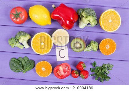 Ripe Fruits And Vegetables As Sources Vitamin C, Dietary Fiber And Minerals, Strengthening Immunity