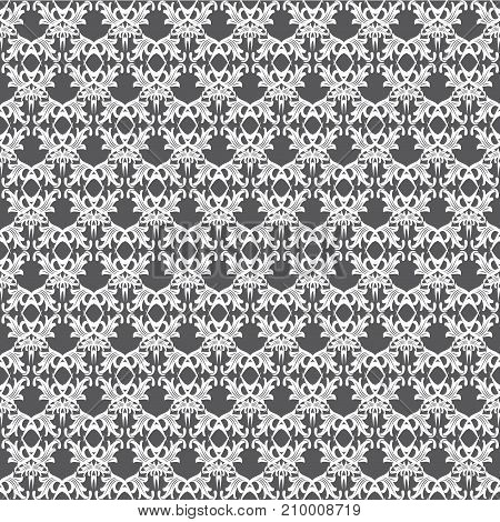 seamless vector pattern made of geometric shapes of white color. For creativity and design
