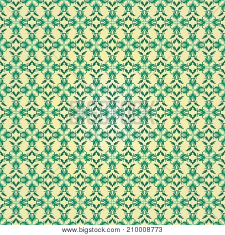seamless vector pattern made of geometric shapes green gradient colors. For creativity and design