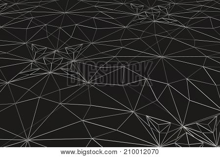 Lines Of Metal Wires On Black Surface