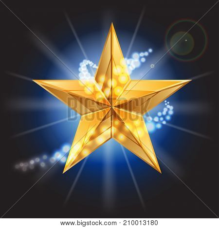 Vector illustration of gold star .