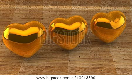 Lovers, Valentine's Day. Symbol of love. 3d image.