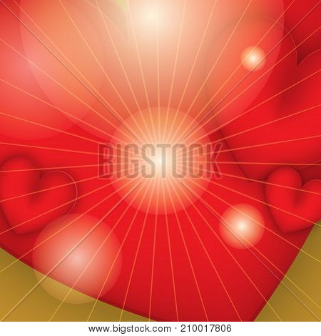 Abstract background. Two hearts banner eps.