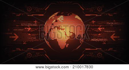 Technology in the concept of digital data interface.