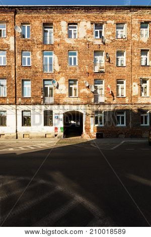 Residential underground area in Warsaw. This ih Poland