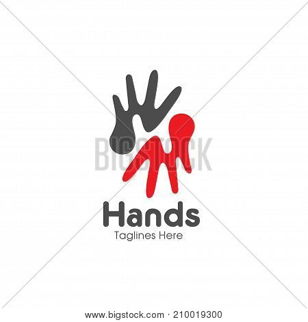 letter H hands, Care logo, togetherness concept logo, Union abstract hands logo, Hands closeup vector, Abstract hands logo