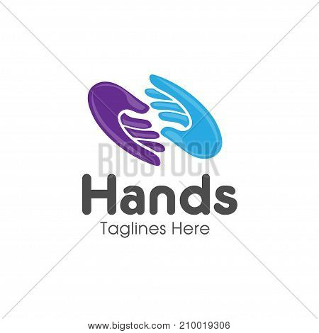 Family hands Care logo, togetherness concept logo, Union abstract hands logo, Hands closeup vector, Abstract social hands logo