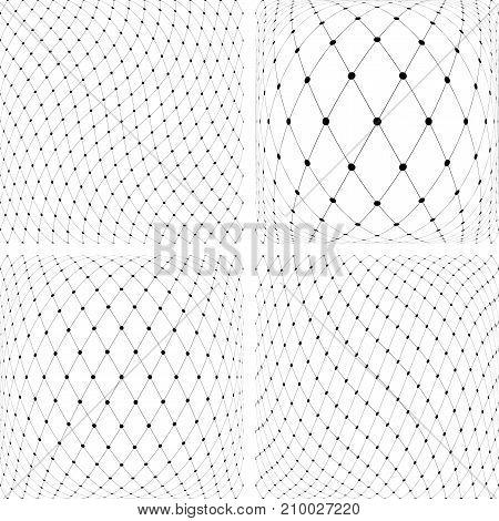 Abstract 3D textured backgrounds set. Vector art.