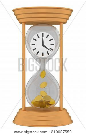 Time is money. Concept of value of time investment saving money