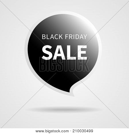 Black Friday Sale Black Tag Isolated Vector Illustration. Discount Offer Price Label, Vector Price Discount Symbol.