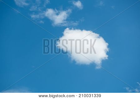 lovely day have a blue sky and beautiful Cloud cloud background concept