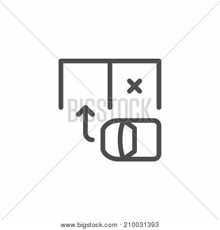 Parking scheme line icon isolated on white. Vector illustration