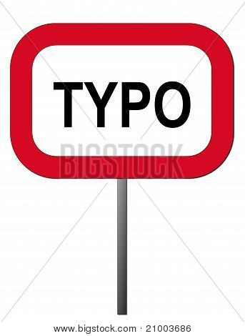 Warning sign typo