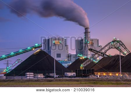 Coal Powered  Plant In Eemshaven