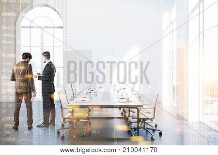 White Loft Meeting Room Interior, People